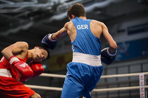 Christos Cherakis gewinnt gegen China