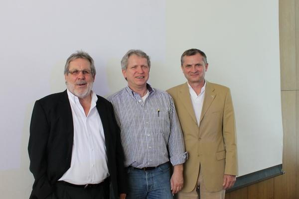 v.r. Michael Müller mit DBV-Vize Finanzen Erich Dreke und Präsident Jürgen Kyas