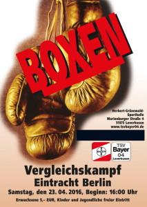 Plakat Boxen Eintracht Berlin 2016